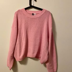 H&M pink cropped sweater